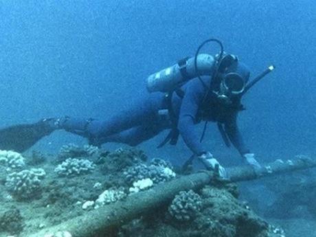 前のベトナムの光海底ケーブルが切断状況