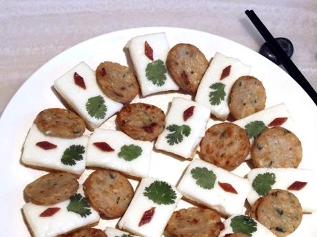 見た目も味も楽しい順徳地方の郷土料理「鍋貼牛●●均安魚餅」