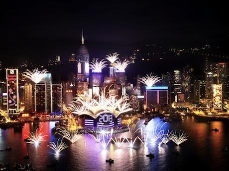 昨年のカウントダウンイベントの様子(提供写真:香港政府観光局)