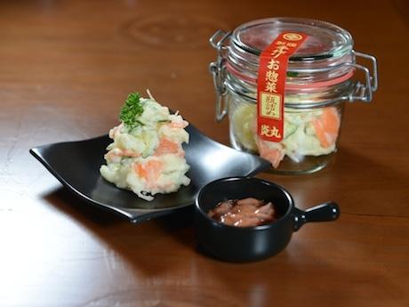 ポテトサラダをおこのみで塩辛と和えて食べる「酒場のポテトサラダ(42香港ドル)」