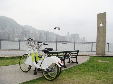 香港中心部で楽しむことができるレンタサイクル