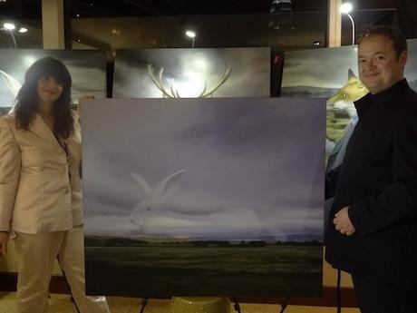 オーストラリアから初参加の画家アマンダさん