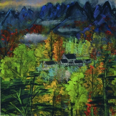 Lin Fengmian (1900-1991)  Autumn Landscape  1977-78 Ink and colour on paper  © Hong Kong Museum of Art All rights reserved
