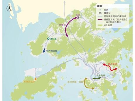 新設予定の6路線。2033年の予想図