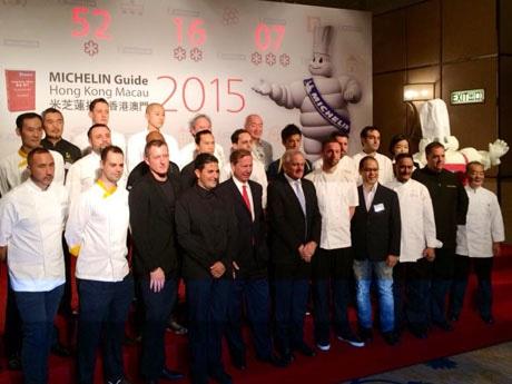各受賞レストランのシェフや関係者が集まり受賞を祝った