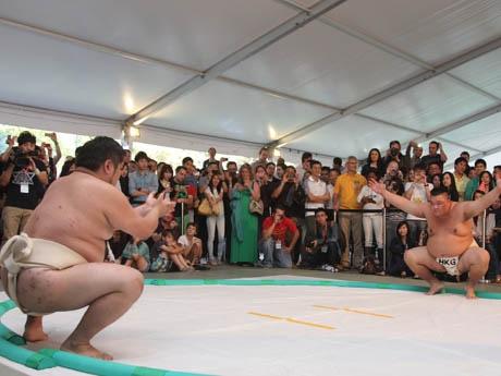 昨年のアマチュア相撲大会の様子