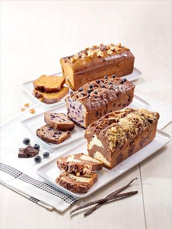 ローフケーキは2種類別々のものも選べる