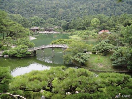 栗林公園。四国を訪れる香港人も増えている。©JNTO