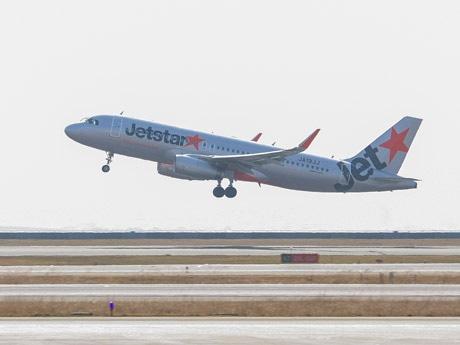 関空-香港で初の国際便に就航しているジェットスター