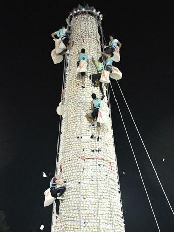 クライマックスのイベント「搶包山比賽」は5月25日開催予定