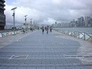 ビクトリア湾沿いの再開発により数年の封鎖が濃厚になった尖沙咀のプロムナード