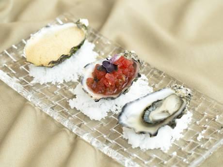 3つの味が楽しめるオイスターメニュー「Trio Of Oysters」