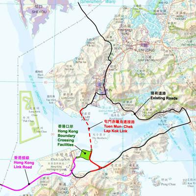 現在工事中の香港国際空港へと繋がる新路線(画像提供:港珠澳大橋香港相関工程)