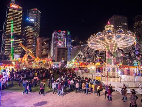 昨年に続き香港に登場した移動遊園地
