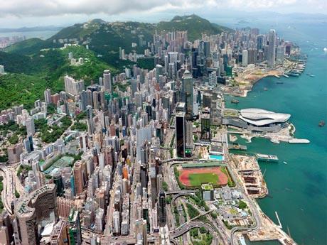 湾仔北から北角への開発を進める香港政府