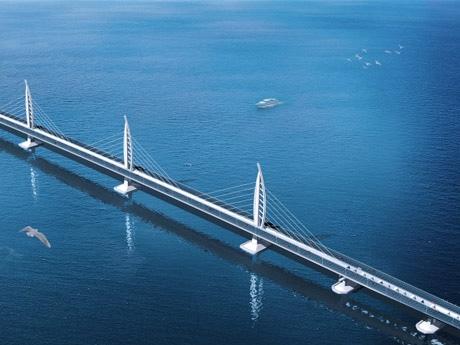 全行程の80%が終了し、繋がった「港珠澳大橋」