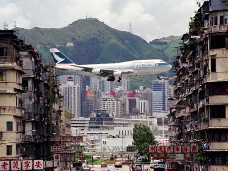 香港で最終飛行を迎えるボーイング747
