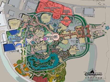 大規模拡張を発表した香港ディズニーランド