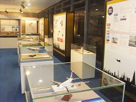香港就航80周年を記念する展示会