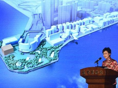 林鄭月娥・政務長官はこのプロジェクトを推進するために北京側との交渉が1年に渡った事を明らかにした