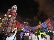 香港パルス3Dライトショーが新バージョンに  シャボン玉とスモークで演出効果も