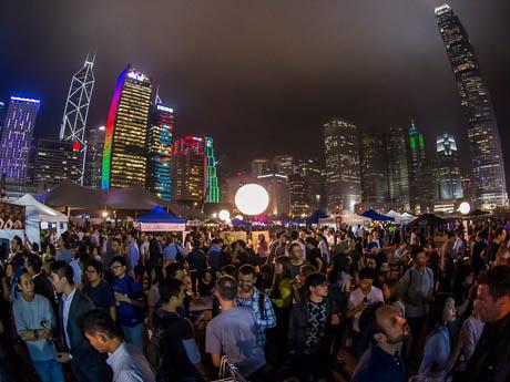 香港の野外イベントとして開催されるビールフェス