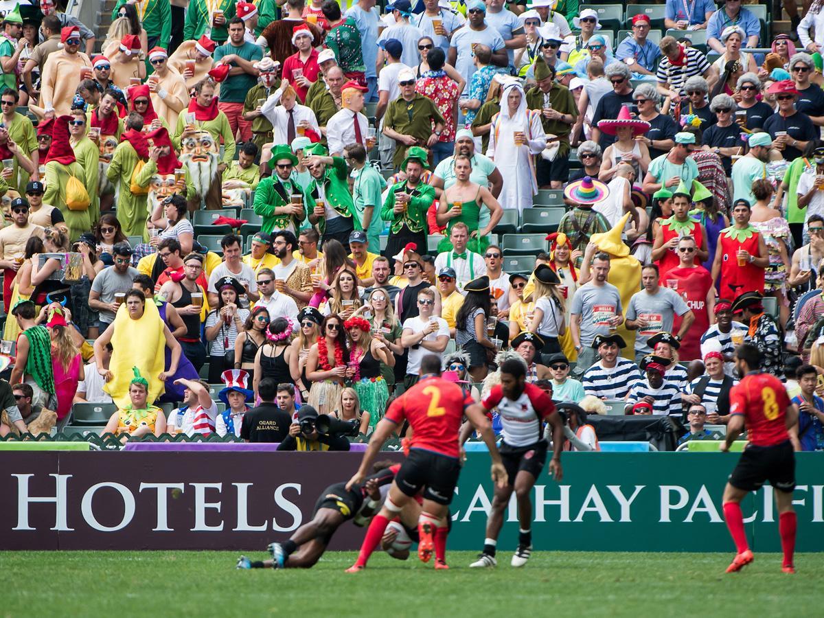 香港で開催されるラグビーセブンズ
