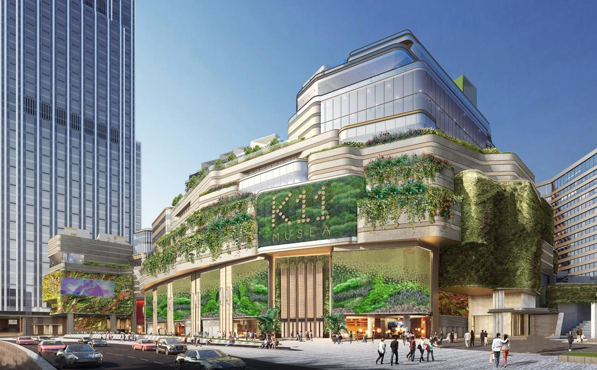 来年開業予定の大型モールの完成予想図