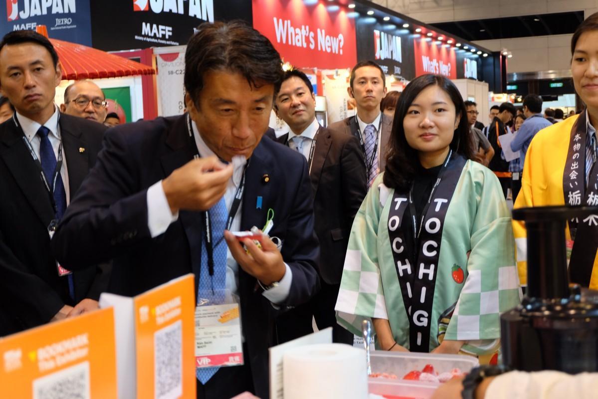 香港が輸入禁止措置を緩和したばかりの栃木のいちごに注目が