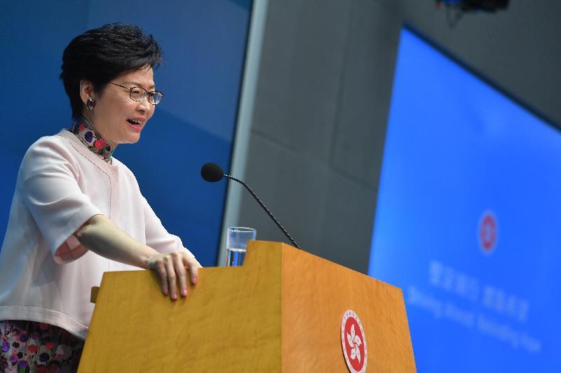 2度目の施政方針演説を行った林鄭月娥行政長官©香港特別行政區政府