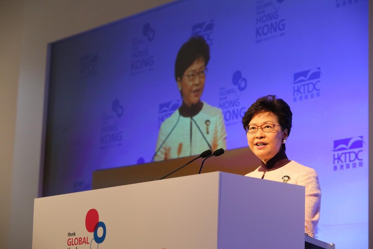 初の公式訪日となった香港の林鄭月娥行政長官