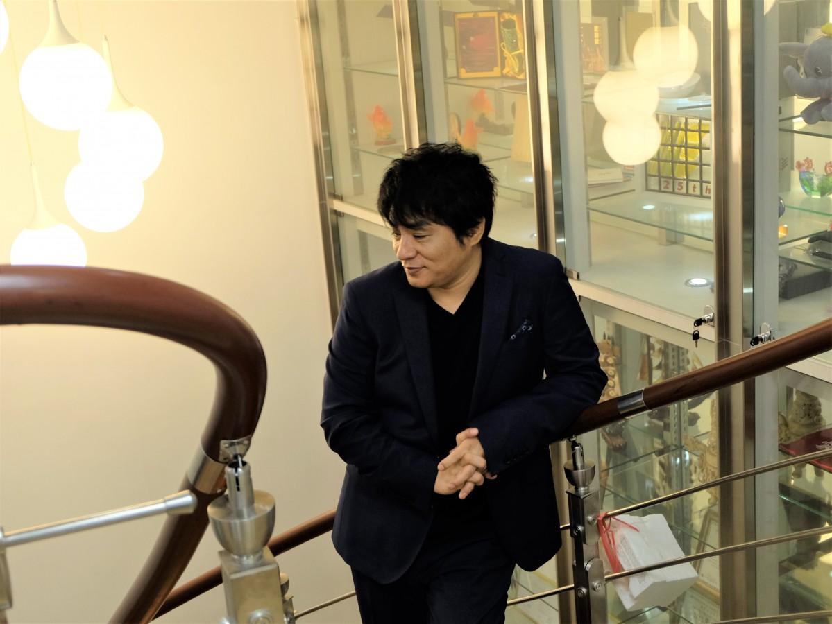 香港公演発表の記者会見のために来港したASKAさん