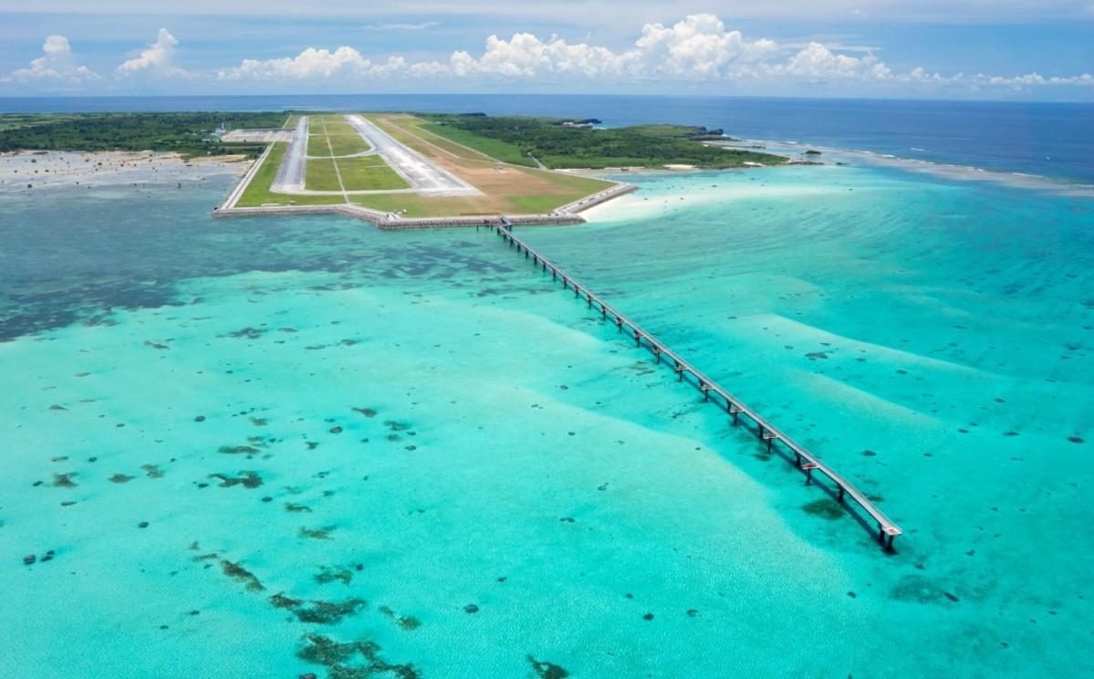 初の国際線就航となる下地島空港