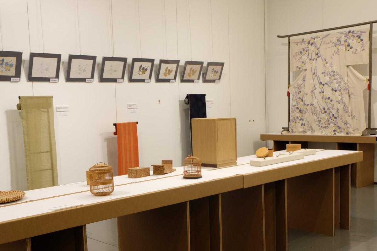香港中央図書館で開催されている日本の伝統工芸品が一堂に集められた展示会