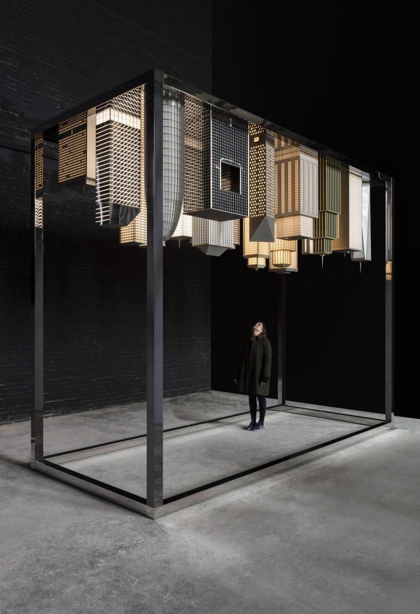 今回世界初公開となるアーティストデュオ・エルムグリーン&ドラグセットの新作「City in the Sky」。Courtesy of the artists & Kukje Gallery, Massimo De Carlo, Perrotin.