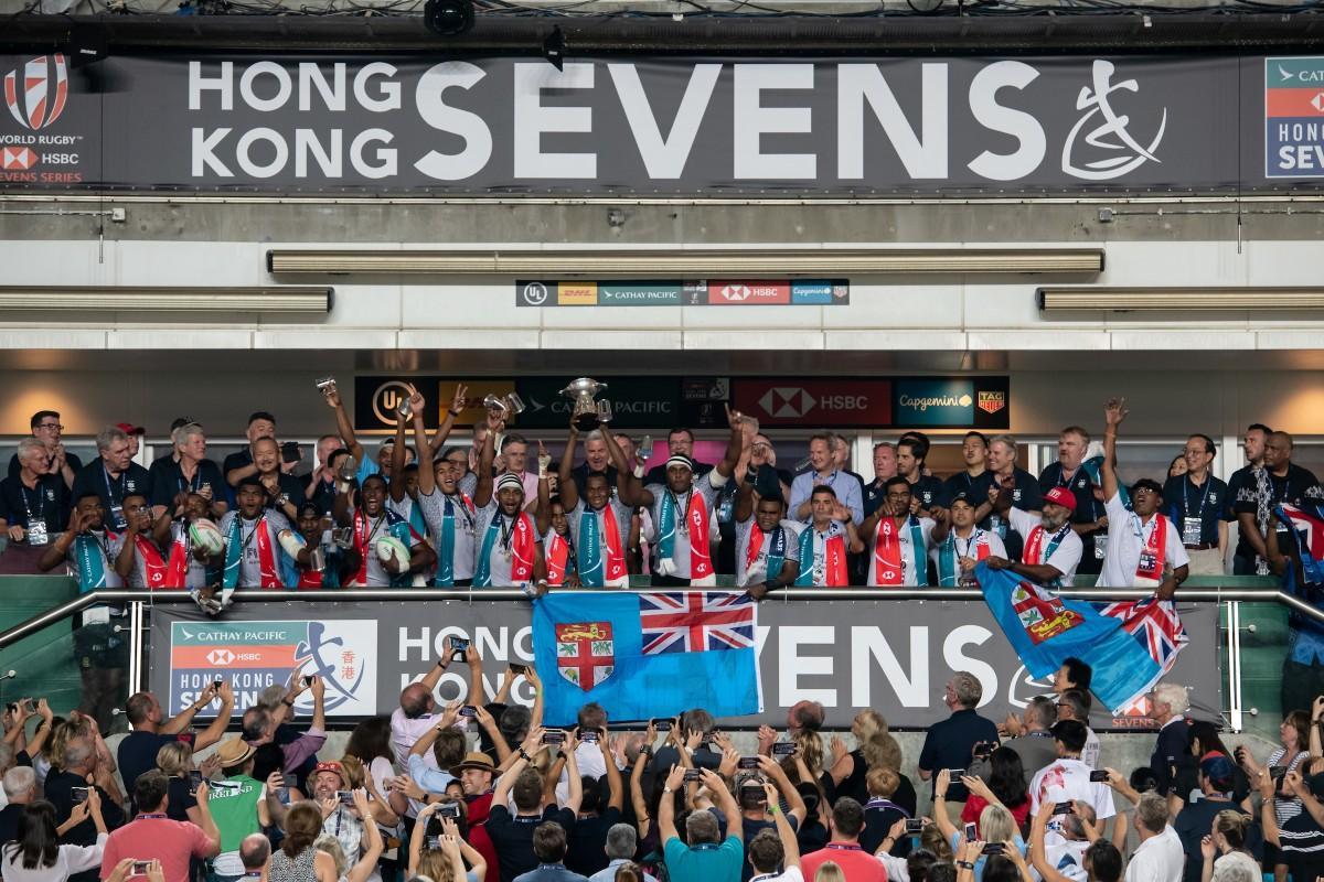 香港セブンズ、5連覇を果たしたフィージーチーム