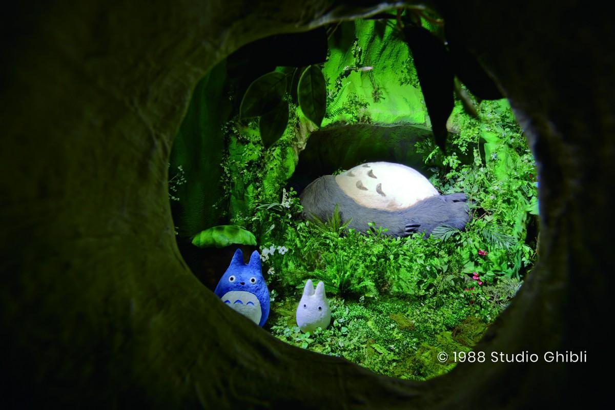 トトロの棲み家が立体的なセットとして登場する