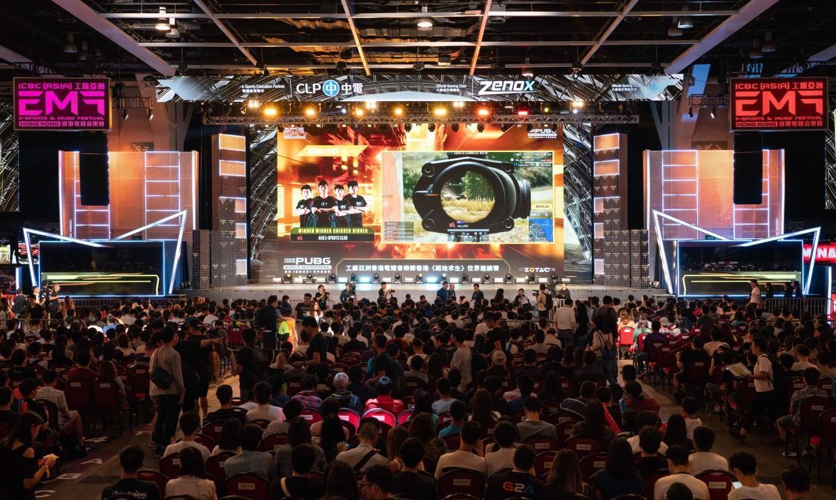 香港が力を入れるeスポーツの大会会場