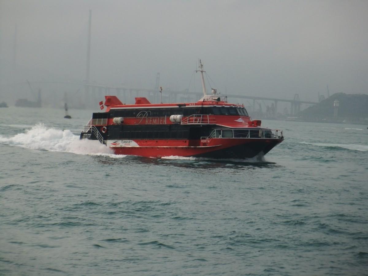 減便を始めた香港とマカオを結ぶフェリー