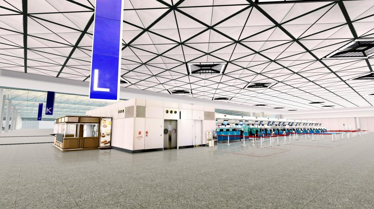 香港国際空港第一ターミナルに登場するLゾーン