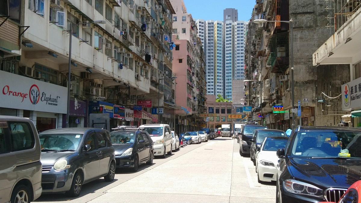 香港でタイの雰囲気が感じられる九龍城周辺の様子