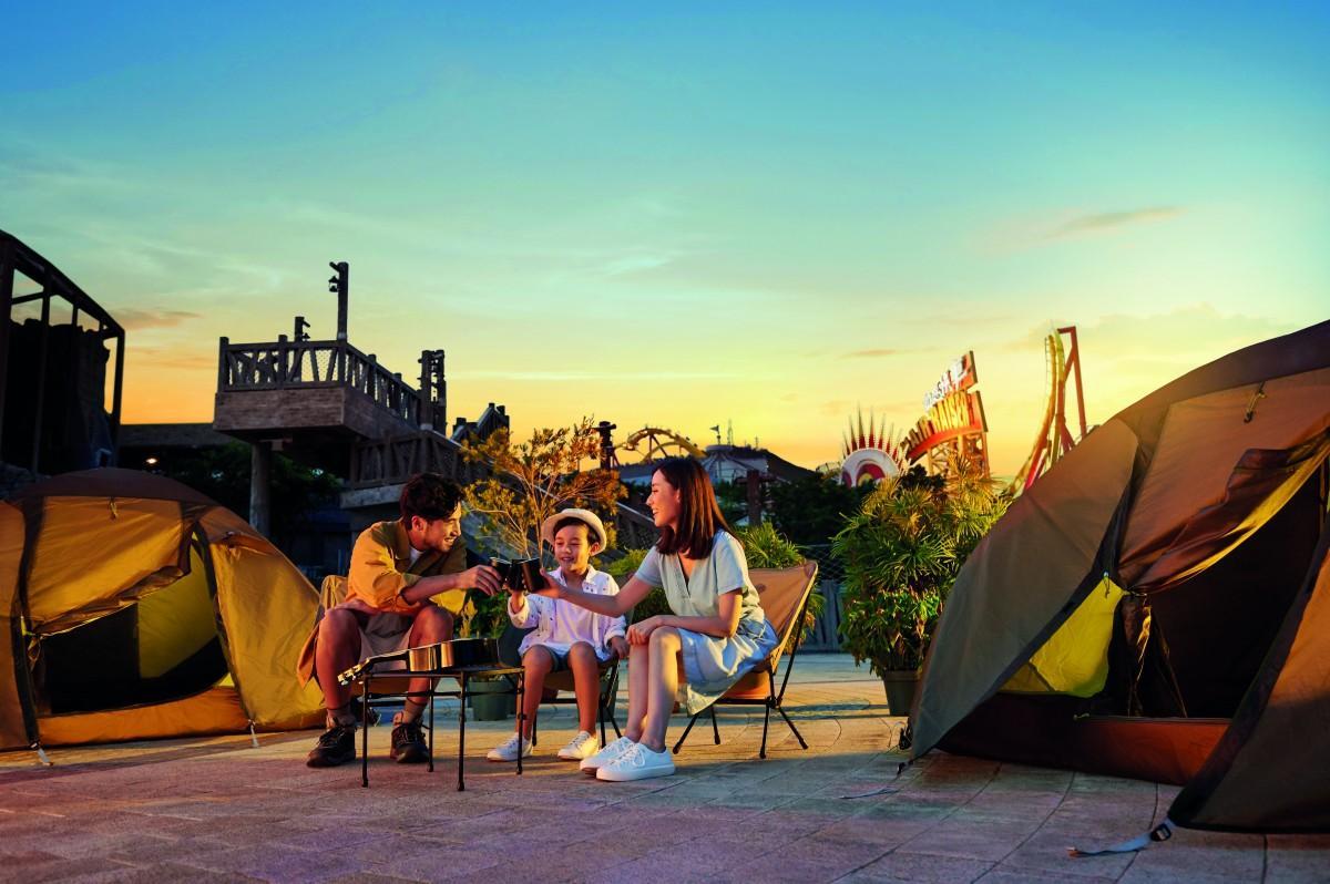 オーシャンパークに登場したキャンプ場