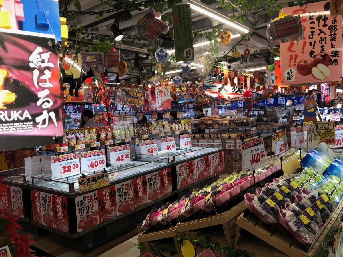 整然と並べられた日本産食材の数々