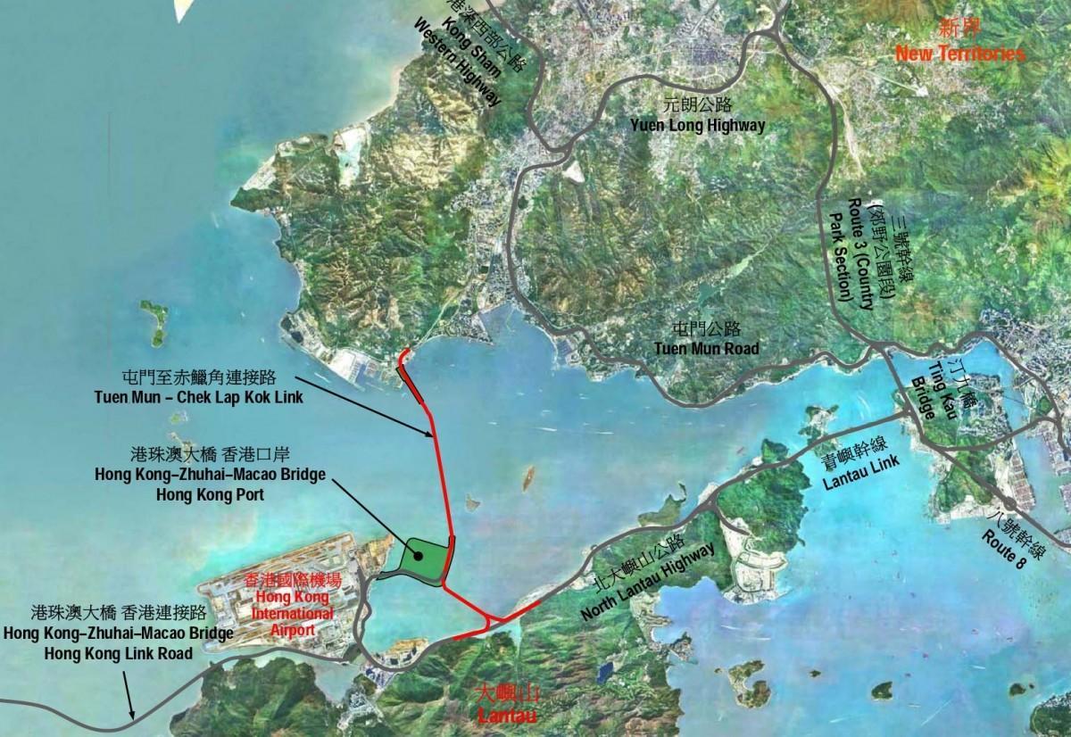 トンネルの完成で、屯門と香港国際空港が約10分に短縮される