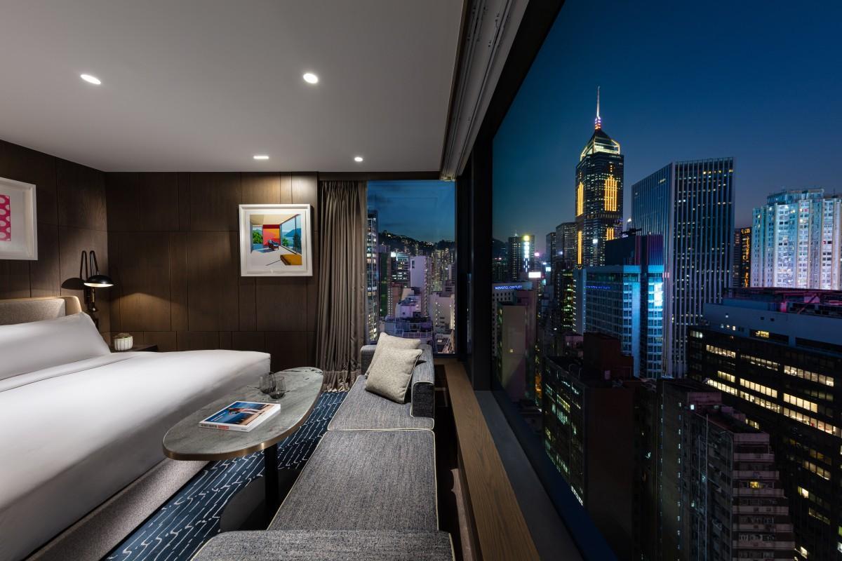 香港島の中心部にオープンしたラグジュアリーホテル