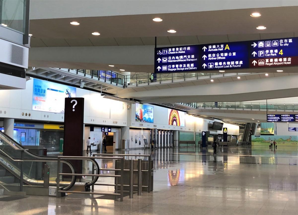 香港国際空港到着ロビーの様子