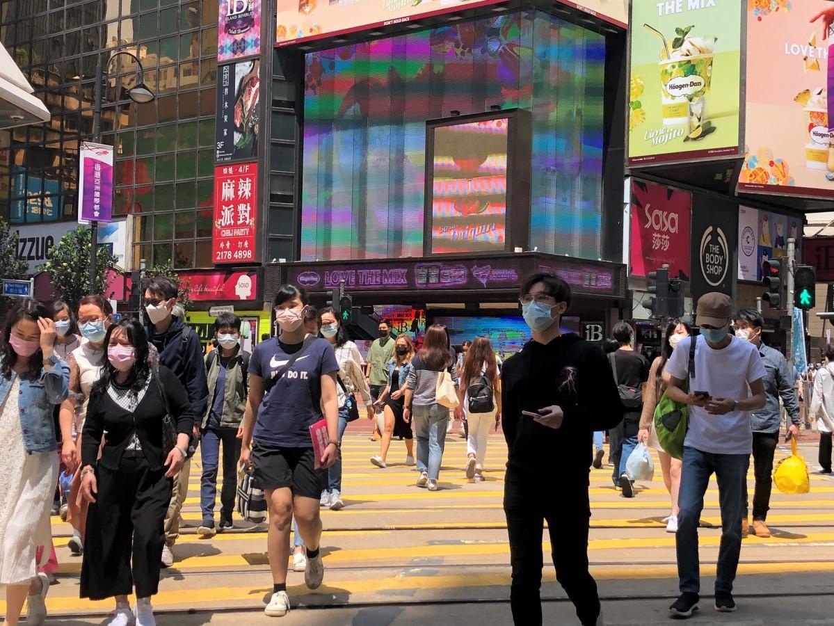 感染者が抑えられている香港の街並み