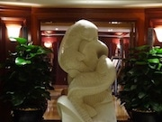Lucky Stone Carp Statue Generating Buzz at HK Hotel in Tsim Sha Tsui