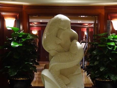 Lucky Stone Carp Statue Generating Buzz at HK Hotel in Tsim Sha Tsui