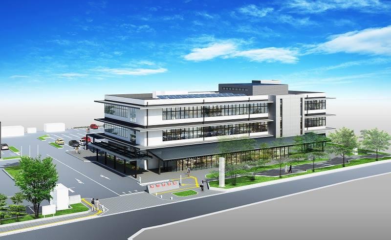 新庁舎の外観イメージ(神川町役場提供)
